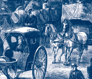 The urban horse brought many problems in its heyday - pollution, noise and traffic mayhem.