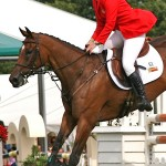 Amy Tryon at the Burghley Horse Trials in England in 2009.