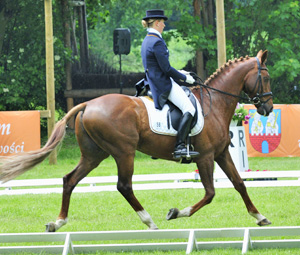 Sandra Auffarth and Opgun Louvo lead after the CICO 3* dressage phase at Strzegom.