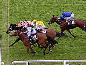 Unbeaten Australian mare Black Caviar keeps her nose in front for the photo finish of the Diamond Jubilee Stakes at Royal Ascot on Saturday.