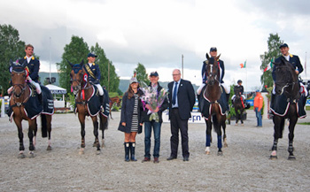 The Ukrainian team of Cassio Rivetti, Katharina Offel, Aleksander Onischchenko and Bjorn Nagel won the fifth leg of the FEI Nations Cup European Promotional League 2012 at Drammen, Norway on Saturday 23 June. The Ukraine now heads the league table with just one qualifying competition remaining.