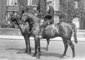 Sgt Hodkinson and Bert Noy taken on Broadgate 1921-1923.