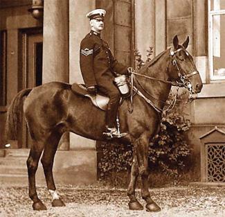Sgt Hodkinson in Stanley Street, before he retired in 1926.