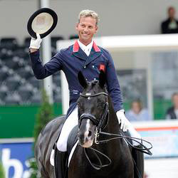 British dressage team member Carl Hester and Uthopia.