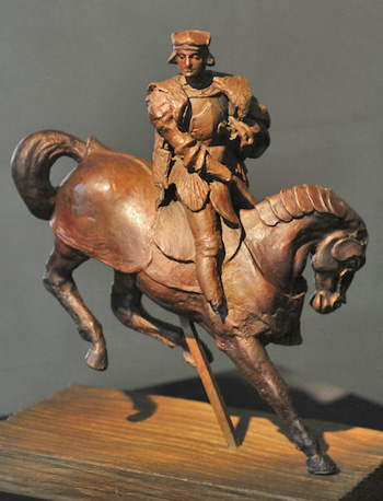 "The first bronze casting of Leonardo da Vinci's original ""Horse and Rider"" wax sculpture."