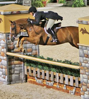 Jennifer Alfano and Jersey Boy captured the $100,000 USHJA International Hunter Derby Finals Championship at the Bluegrass Festival Horse Show.