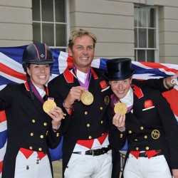 Britain's golden dressage trio to reunite