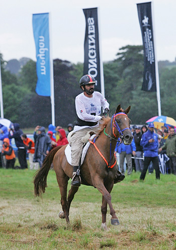 HH Sheikh Mohammed Bin Rashid Al Maktoum steered Madji du Pont to take individual gold at the Longines FEI World Endurance Championships 2012 staged at Euston Park (GBR) yesterday.