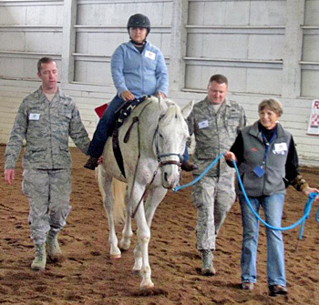 TIP Thoroughbred of the Year Aspen is a therapeutic riding horse at the Rainier Therapeutic Riding center in Washington, which provides therapeutic horsemanship lessons to wounded, active-duty and veteran members of the military.
