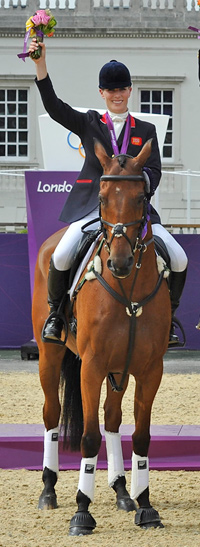 Team silver medalist Zara Phillips and High Kingdom.