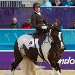 Belgium's Barbara Minneci and Barilla in the Grade II Team test.