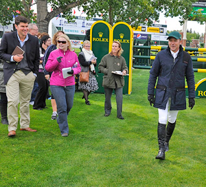 "Eric Lamaze gives a guided course tour on opening day of the Spruce Meadows ""Masters"" tournament in Calgary, Alberta."