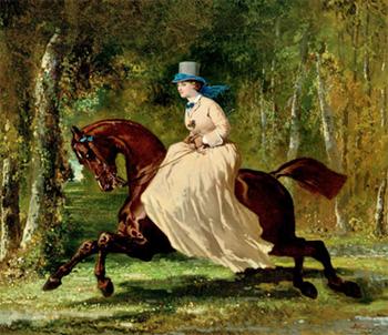 Alfred de Dreux, Une amazone-en-Forêt (nd)