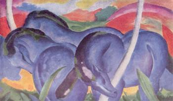 Franz Marc, Grandes caballos azules (1911)