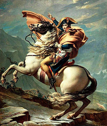 Jean-Louis David, Napoleón cruzando los Alpes (1800)