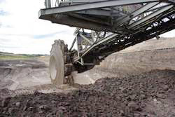 Excavator at the Schöningen lignite mine, August 2012. Photo: Jordi Serangeli, University of Tübingen.