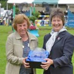 Gill Watson, left, receives the Lifetime BE Award from president Jane Holderness-Roddam.