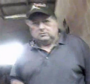 Jackie McConnell, caught in footage shot during an undercover investigation by the Humane Society.