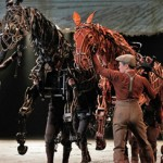 War Horse puppets during the production on Broadway.
