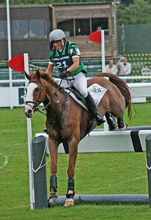 Apache Sauce and Mary King at Burghley last year.