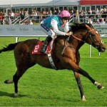 Frankel cruises to a 13-length victory in a Doncaster Conditions stakes on his second start