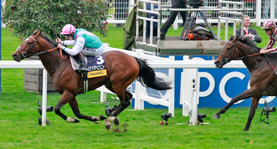 Frankel closes in on the finish line in front for the 14th and final time.