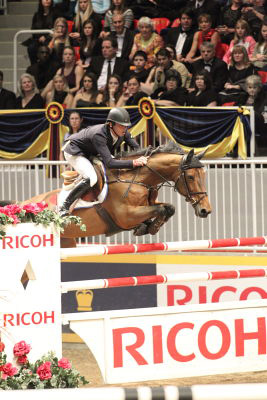 Harrie Smolders of The Netherlands, pictured on Regina Z, will defend his 2011 win in the $75,000 Ricoh Big Ben Challenge at the Royal Horse Show.