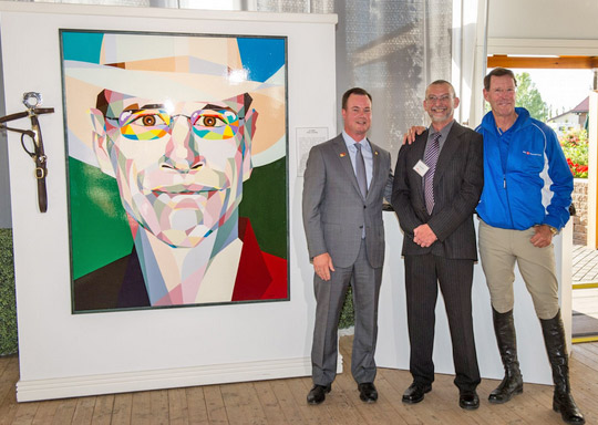 Robert Hayes, BMO Financial Group Senior Vice President of the Prairies Division, Gordon Milne and Ian Millar.