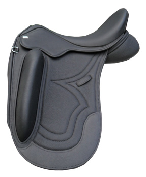 A Sue Carson dressage saddle.