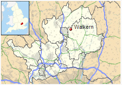 Walkern shown within Hertfordshire
