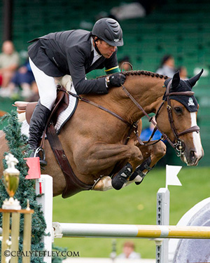 2008 Olympic Champion Eric Lamaze, pictured riding Artisan Farms' Coriana van Klapscheut.