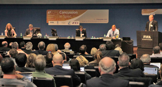 Top international sports experts representing the IOC, FIFA, FEI and several other international sports federations met at the Home of FIFA in Zurich (SUI) on 1 and 2 November 2012 for the Fourth International Consensus Conference on Concussion in Sport.