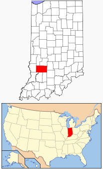 Location of Greene County in Indiana.