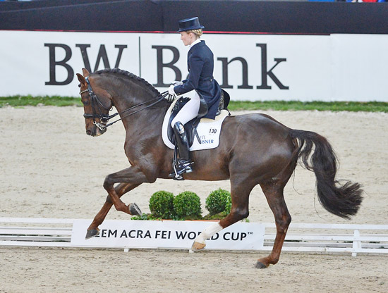 Stuttgart World Cup round winners Helen Langehaneberg and Damon Hil