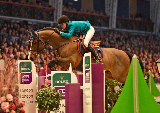 Malin Baryard-Johnsson, Malin riding H&M Tornesch SWE 2nd in the Rolex FEI World Cup.