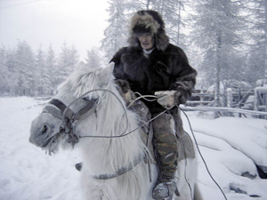 And 100 years later, horse and rider look exactly the same!  Siberian Yakut horseman riding in minus 64 degree weather.jpg Photo: Mikael Strandberg (http://www.mikaelstrandberg.com/)