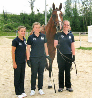 Junior representatives of British WBFSH member studbooks taking part very successfully in the 2011 International Young Breeders Championships in Lyon, France.