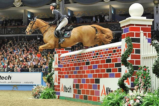 Ben Maher and Noctambule Courcelle claim the Alltech Christmas Puissance for a second time on Thursday  at Olympia.