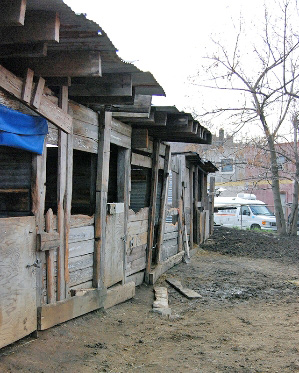 The illegal stables from which three horses were seized in Pennsylvania.