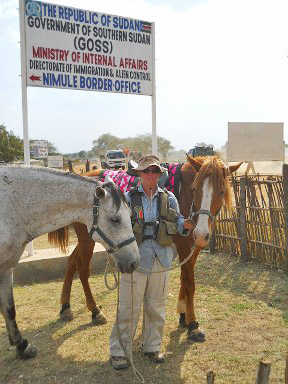 "Christy entering Southern Sudan. Despite the hardships, Christy remained supremely optimistic and wrote: ""Our love for each other and the horses, an opportunity to meet people, make friends, learn new things and live life to the full are what keep us going, through thick and thin."""