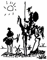 Pablo Picasso, Don Quixote, 1955.