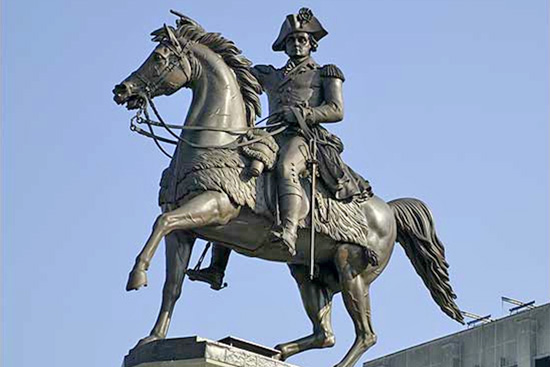 Equestrian Statue of George Washington, Richmond, Virginia, 1858.