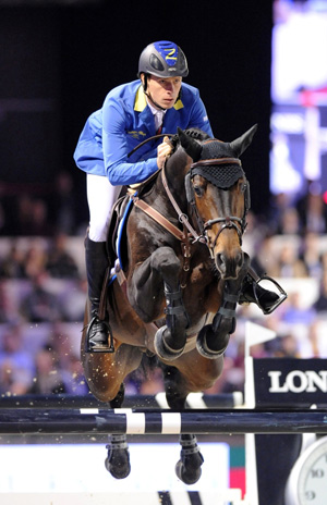 Christian Ahlmann on Codex One at the Gucci Paris Masters 2012.