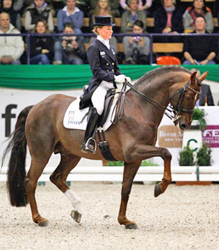 Germany's Helen Langehanenberg and Damon Hill NRW won their second successive World Cup Dressage qualifier at Neumuenster yesterday.