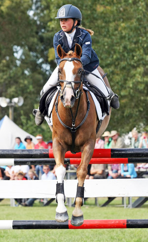 Steffi Whittaker and Moonlight Glow won the NZ Open Pony Grand Prix Championship.
