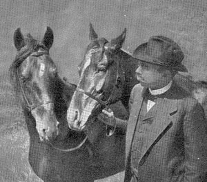 Karl Krall and two Elberfeld horses.