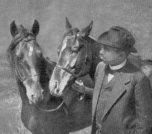 Karl Krall and two Elberfeld horses.