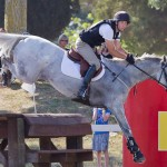Simon Gordon and Fletch.com on their way to winning NZ's Eventing Horse of the Year title.