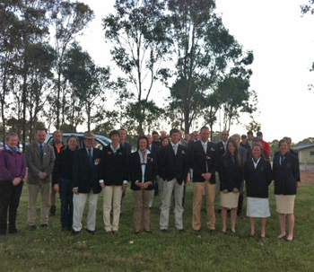 Trans Tasman Teams, officials and volunteers commemorate ANZAC Day