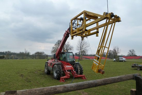 The British Eventing pendulum and test rig in action.